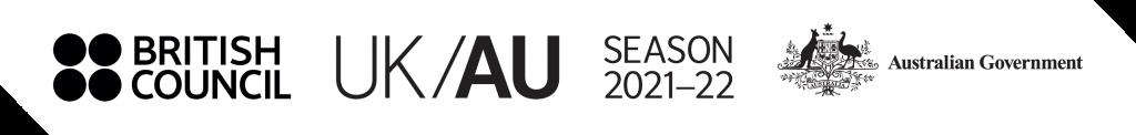 British Council, UK/AU Season, and Australian government logos